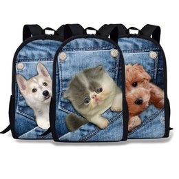 Men cowboy bag online shopping - 2018 Young STUDENT S Cowboy Animal School Bag Cowboy Pet Dog CHILDREN S Rucksack Cat Backpack Children