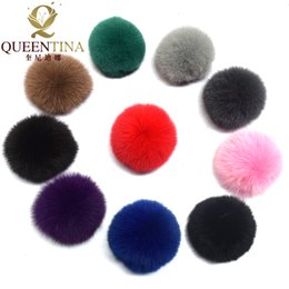 $enCountryForm.capitalKeyWord UK - Real Fox Fur Pompom Genuine Fur Pom Poms Ball for Hats&Caps Big Natural Pompon Ball For Shoes Bags Accessories Candy Colors