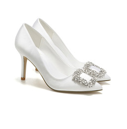 bridesmaids dress shoes NZ - newest women white bride wedding shoe spring lady's party Fashion bridesmaid shoes high quality T-show dress shoes high heel lady footwears