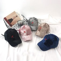 23bf8945444 Winter Women Rose Flower Baseball Cap Embroidery Thicker Warm Streetwear Caps  Female Korean Version Of The Wild Hipster Hat