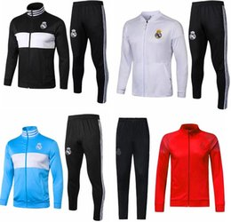 Chinese  real Madrid Thai top quality training suit sport jacket 18 19 Season MODRIC ASENSIO ISCO BALE MARCELO tracksuit Windbreaker manufacturers