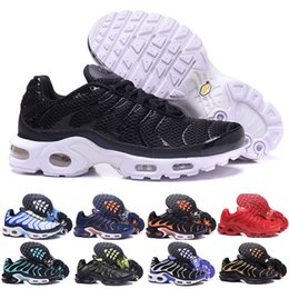 Discount cheap top quality running shoes - Fast Shipping 2018 Top Quality MENs Air TN RunnING ShOes ChEAp BASKET REQUIN Breathable MESH CHAUSSURES HoMMe noir Zapat