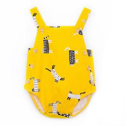 74ed5c90e49 100% Cotton Lovely Newborn Infant Toddler Baby Girls boys rompers Colorful  Animal Pattern Tank Tops Summer Bodysuit Romper Jumpsuit