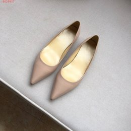 Discount beautiful fashionable dresses - The new nude color, which has a thin heel and a pointed toe, fashionable and beautiful low heel height of 2.5cm