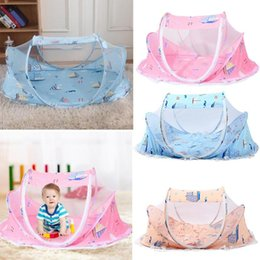 infant cradle beds UK - Cartoon Print Baby Mosquito Net Cradle Bed Cover Play Tent Sun Shade Cloth Summer Portable Infants Breathable Crib Mosquito
