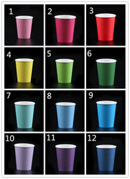 Colorful disposable Cups online shopping - Creative oz Colorful Paper Cups Kids Kingdergarten DIY Cups Household Disposable Cup Party Decortions Paper Cups Eco friendly