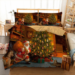 3d christmas bedding sets 2019 - Xmas Bedding Set Twin Full Queen King AU Single UK Double Size Gift From Christmas Duvet Cover Pillow Cases 3D Bedclothe