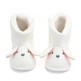 crochet baby girl snow boots NZ - Winter Boots Cute Wool Baby Snow Boots Boy Baby Girl Warm Knit Crochet Socks Toddler Boots Baby Winter Shoes