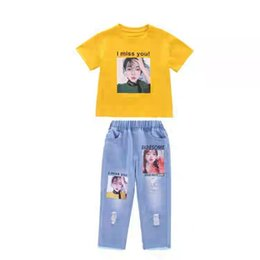 dc278be96f 2019 New Summer Girls' Suit Korean Fashion Two-Piece Children's Fashion  Little Girls Summer Boys