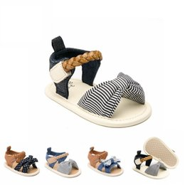 Baby Girl Summer Canvas Shoes Australia - Baby Girl Sandals Summer Baby Girl Shoes Cotton Canvas Dotted Bow Baby Girl Sandals Newborn Summer Shoes Infant Beach Sandals