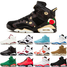 competitive price c6231 63ecf 6 6S Men Basketball Shoes CNY Carmine Black Cat Green Suede Golden Harvest  Slam Dunk Pantone GS Pinnacle Bugs Bunny Sports Sneakers 8-13