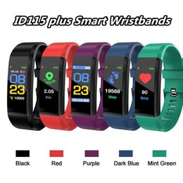 $enCountryForm.capitalKeyWord Australia - Original Color LCD Screen ID115 Plus Smart Bracelet Fitness Tracker Pedometer Watch Band Heart Rate Blood Pressure Monitor Smart Wristband
