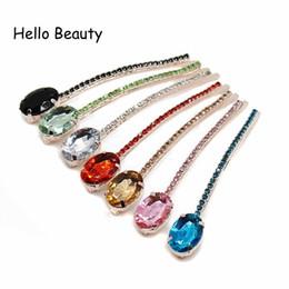 $enCountryForm.capitalKeyWord NZ - stone clip Fashion Girls Accessories Women Jewelry Stone Clip Hairpins Red Pink Blue Crystal Hair Rhinestone Barrette