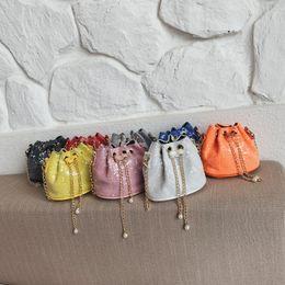 $enCountryForm.capitalKeyWord Australia - 2019 Cute Children Mini Bucket Bag Glitter Sequin Kids Messenger Bag Girls Purses and Handbags Baby Princess Purse Handbag