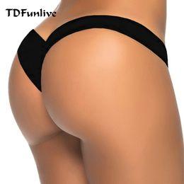 6b83ebd7fb 2019 new hot sale black V shape sexy brazilian bikini bottom women swimwear  swimsuit trunk tanga micro briefs Panties