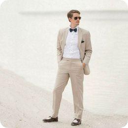 $enCountryForm.capitalKeyWord NZ - Latest Coat Pant Designs Linen Men Suits for Wedding Casual Groom Tuxedos Smart Groomsmen Blazer 2Piece Costume Homme Slim Bridegroom Jacket