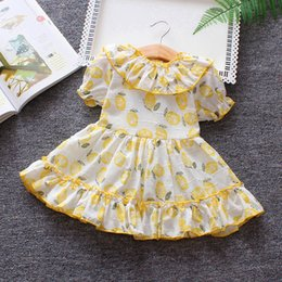 $enCountryForm.capitalKeyWord NZ - 2019 summer baby girls dress kids girls fruit printing puff sleeve lace dress toddler infant beach party birthday frock clothing