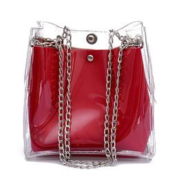 $enCountryForm.capitalKeyWord NZ - Summer Hot Sale Fashion PVC Women Small Bucket Bags Plastic Transparent Totes Composite Chain Bag Female Mini Jelly Handbags