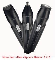 Function Suits Australia - New multi-function I wash rechargeable nose hair combo Three-in-one electric nose hair trimmer suit