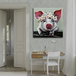 pig paintings NZ - -1-0057# Framed & Unframed Mintura Cute Baby Pig Home Decor Handcrafts  HD Print Oil Painting On Canvas Wall Art Canvas Pictures 200