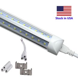 Foot Cooler Australia - V-Shaped Integrate T8 LED Tube 2400MM 4 5 6 8 ft Feet LED Fluorescent Lamp 8ft 4ft LED Light Tubes Cooler Door Lighting