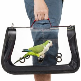 Pvc cages online shopping - Outdoor Travel Transport Parrot Cage Bird Carriers Accessories Pvc Transparent Breathable Parrot Handbag