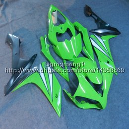 $enCountryForm.capitalKeyWord Australia - Custom+Screws Injection mold green motorcycle panels for Yamaha YZF-R1 2007-2008 07 08 YZFR1 ABS motor Fairings