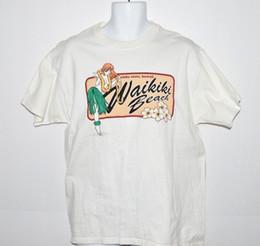 0255eaa42 AlohA shirts online shopping - Topless Hula Girl T shirt Waikiki Beach Aloha  State Hawaii Lei