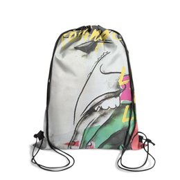 Love Furs Australia - Drawstring Sports Backpack Rolling Stones Love You Liveoutdoor daily cinch Pull String Backpack