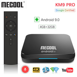 google android smart tv NZ - 1pcs Google Certified Mecool KM9 Pro ATV 4G 32G Android 9.0 TV Box Amlogic S905X2 Voice Input Dual WIFI Smart TV