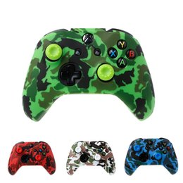 $enCountryForm.capitalKeyWord Australia - Camouflage Camo Soft Silicone Gel Skin Rubber Case sleeve Gamepad Grip Protective Cover for Xbox One S X Controller