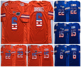 College Football Flags Australia - NCAA Florida Gators Mens 15 Tim Tebow 22 E.Smith 6 Jeff Driskel Blue Orange Flag Limited Mens College Football Cheap Jerseys