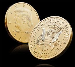 $enCountryForm.capitalKeyWord NZ - 2019 Gold Silver Metal Craft Coin Badge American 45th President Donald Trump Sculpture Non-currency Commemorative Coin EAGLE Collection Coin