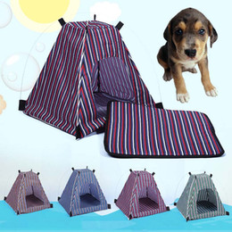 $enCountryForm.capitalKeyWord Australia - Outdoor Pet Tent Folding Striped Portable Cat Dog Puppy House Pets Supplies 899
