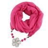 $enCountryForm.capitalKeyWord Australia - women's chiffion hijab hair sacrf solid color small fresh flowers with beads pendant ladies scarf jewelry necklace scarf free shipping