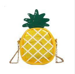 $enCountryForm.capitalKeyWord UK - Baby Girls Bags Transparent Jelly Pineapple Messenger Bag Lovely Fruit Handbags Casual Chain Crossbody Bags Kids Brand Purse Free DHL