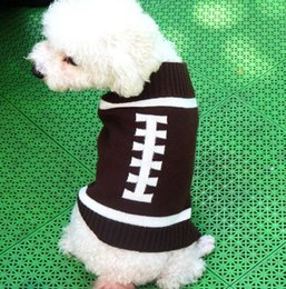 Pet Dog'Wholesale Blanks Leopard Clothes Dog Apparel Football Rugby Ball Pet Sweater Pet Winter Knit Material Coats With Four Legs on Sale