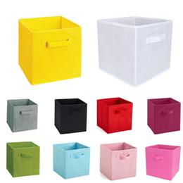 $enCountryForm.capitalKeyWord NZ - New Non-Woven Fabric Folding Cabinet storage box toys organizer clothes storage bin for Underwear Bra Socks with handle
