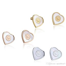 Wholesale US New York famous brands jewelry Silver rose gold and Gold Stainless steel plated designer Heart earrings for women luxury Natural Pearl