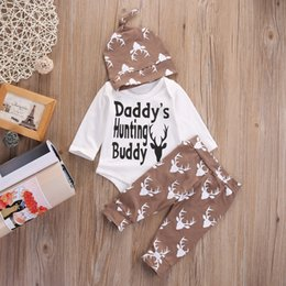 $enCountryForm.capitalKeyWord Australia - 2019 3Pcs Adorable Toddler Kids Baby Boys Christmas Tops Bodysuit+Long Deer Pants+Hat Clothes Outfits Set 0-18M Casual Cotton Clothes