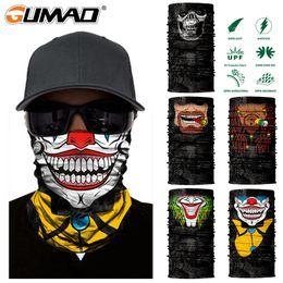 $enCountryForm.capitalKeyWord Australia - 3D Skull Clown Seamless Magic Neck Gaiter Face Shield Warm Outdoor Cycling Fishing Biker Bandana Headband Scarf Men Women Mask