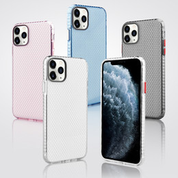 10 x max iphone Australia - Transparent Honeycomb Space Anti-fall Clear Soft TPU 2.0mm Shockproof Case For iPhone 11 Pro Max XR XS X 8 7 6 Plus Samsung Note 10 10+