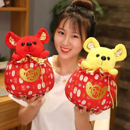 chinese plush Australia - 2020 Year Mouse Year Kawaii China Lucky Bag Rat Plush In Tang Suit Soft Toys Chinese New Year Party Decoration Gift