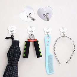 Wall mounted key online shopping - Stainless Steel Self Adhesive Hook Key Heart Butterfly Shape Rack Towel Hanger Holder Wall Mount Home Kitchen Hanger LJJW66