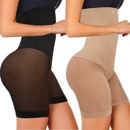 Wholesale slip panties resale online - Size Plus Women s High Seamless Waist Control Panties Shapewear Thigh Slimmer Body Shaper Smooth Slip Shorts under Skirt