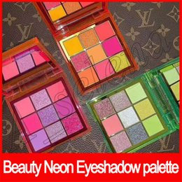Green palette online shopping - 2019 New Beauty Eye Makeup Beauty Neon PINK ORANGE GREEN Eyeshadow Palette Obsessions Colors Shimmer Shinning Matte Eye Shadow