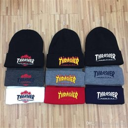 hip hop style beanie hats UK - 9 styles Popular Beanies Winter Hat hip-hop winter warm embroidery knit hat skim hat Xmas gift