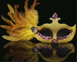 Female Half Face Mask Australia - Masquerade Mask Adult Female Half Face Princess Mask Child Sexual Love Party Mask Prom with Feather Y026