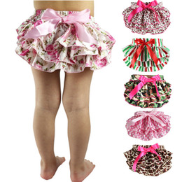 Wholesale 12 Colors Baby Bloomers Girls TUTU underwear Panties Toddler Kids Underpants infant newborn ruffled satin PP pants Kids Clothing M1659