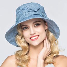 $enCountryForm.capitalKeyWord Canada - 2019 Women Summer Cotton Hats Fashionable Wide Brim Floppy Elegant Floral Chape Feminino Beach Sunhat Kentucky Derby Hats